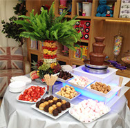 Sweets, Fruit and Chocolate Fountain
