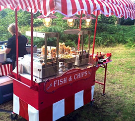 Fish & Chips Cart for event hire Guildford