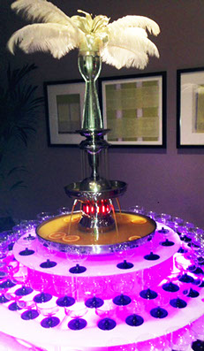 Vodka Punch Fountain at Great Gatsby Event, Merlin Entertainments, Chessington