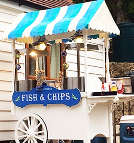 Traditional Fish & Chips Cart on hire at Event in central London