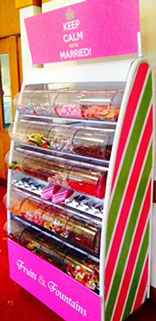 Pick n Mix Stand at Camberley Wedding by Fruits and Fountains