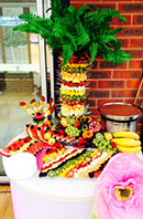 Fruit Palm and warm chocolate dip - Birthday Party at Warlingham March 2014
